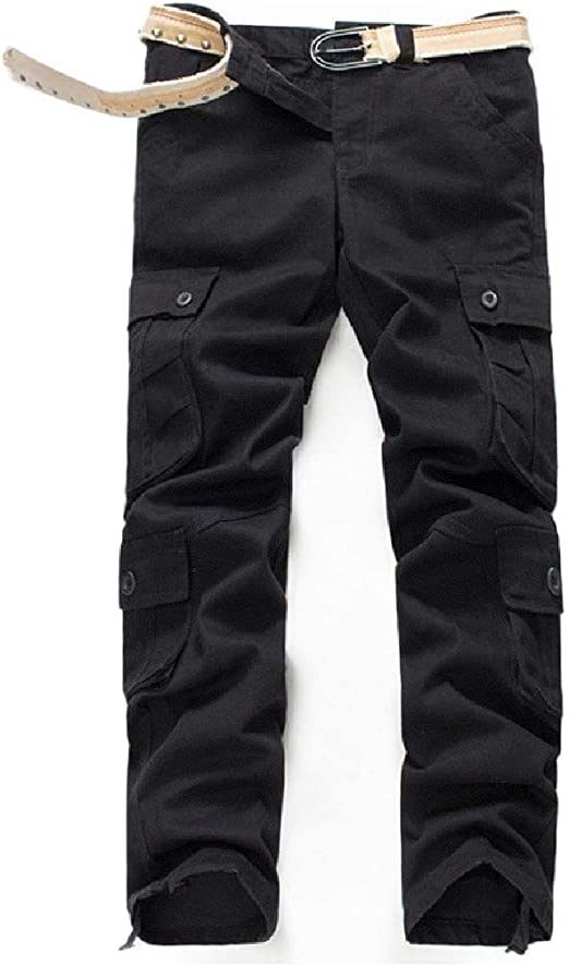 Candiyer Mens Straight Big & Tall Trousers Loose Relaxed Fit Rip Stop Trouser