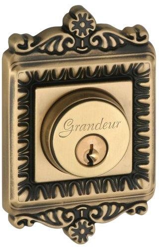 Grandeur GS60-WINWIN-KD-VB Windsor Deadbolt, Single Cylinder, Vintage Brass Finish
