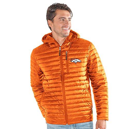 Football Zipper Jacket Nfl - G-III Sports NFL Denver Broncos Equator Quilted Jacket, X-Large, Orange