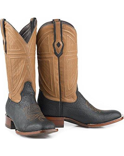 Stetson Mens Beaumont Teju Ödla Cowboy Boot Fyrkantig Tå - 12-020-1852-0371 Br Brun