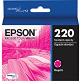 Genuine OEM Magenta Ultra Ink Cartridge Epson 220 WorkForce DuraBrite WF-2630WF WF-2650 WF-2660 - T220320 - Yield 165 pages