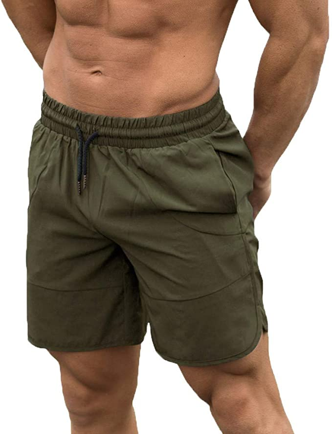 FORUU 2020 New Mens Summer Shorts Sale,Plus Size Fashion Fitness Sport Fitness Quick Drying Shorts Solid Shorts