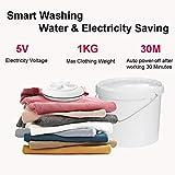 Sooncor Mini Washing Machine, 2 in 1 USB Ultrasonic Turbine Spin Dryer Laundry Washer
