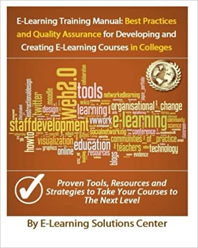 e learning training manual best practices and quality assurance