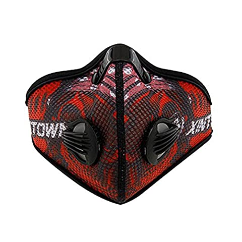 Baiyu Cycling Mesh Anti-dust Mask with Filter Bike Bicycle Active Carbon Anti-haze Windproof Cold-proof Half Face Mask for Motorcycle Ski Racing Outdoor Sports--Red
