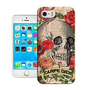 Customizable Skull art illustration Case For Iphone 5/5S Cover - Wholesale -