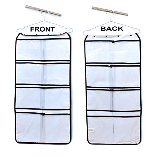 Hanging Closet Organizer with 16 LARGE Pockets stores Bras, Underwear, Clothes, Stockings, Socks, Jewelry, Toiletries, Baby, Household & Children Accessories - Durable Dual-sided Storage Saves Space