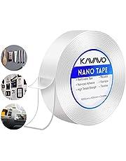 Herbruikbare Nano Magic Dubbelzijdige Plakband, Multifunctionele No-Trace Verwijderbare Transparante Lijmtape, Wasbare Sterke Sticky Gel Grip Tape voor Kantoor, Tapijt, Keuken.