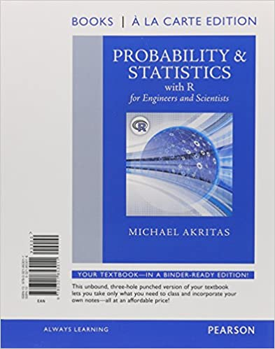 Amazon probability statistics with r for engineers and probability statistics with r for engineers and scientists books a la carte edition 1st edition fandeluxe Images