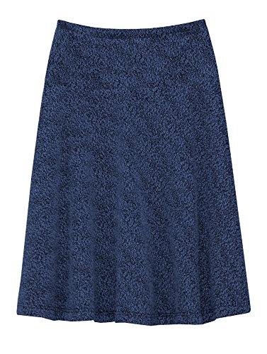Knit Skirt Drop Waist - Baby'O Girl's Boucle Knit Drop Waist Skirt - ROYAL - 4