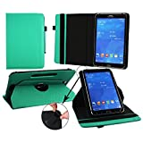 Emartbuy® Hipstreet Pulse 9 Inch Tablet PC Universal ( 9 - 10 Inch ) Emerald Green 360 Degree Rotating Stand Folio Wallet Case Cover + Turquoise Stylus