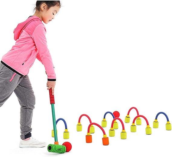 Mousse Int/érieure Et Ext/érieure /À Deux Joueurs De Croquet Parfait pour Les Pelouses HHORD Croquet pour Les Enfants Parc Et Plus Jardin