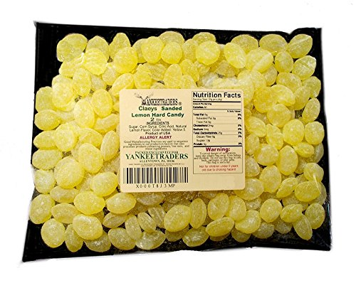 Claeys Lemon Sanded Candy Drops, Old Fashioned, 2 Pound