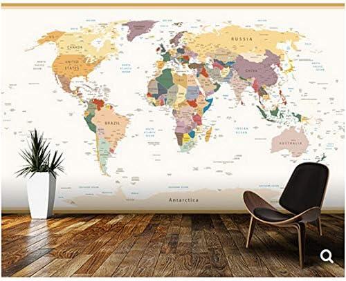 Newberli Papel Tapiz Personalizado Para Niños, Mapa Del Mundo Político Colores Vintage, Murales De Dibujos Animados En 3D Para Las Habitaciones De Los Niños, Papel Tapiz De Vinilo: Amazon.es: Bricolaje y herramientas