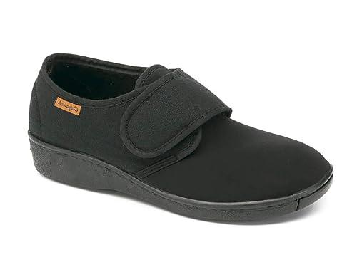 9657aa34 Zapatillas Mujer Linea Confort Marca CALZAMEDI, Horma Ancho 13, Altura 2cm,  Tejido con
