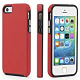 iphone 5 case red and black - iPhone 5/5s/SE Case, CellEver Dual Guard Protective Shock-Absorbing Scratch-Resistant Rugged Drop Protection Cover For iPhone 5/5S/SE (Red)