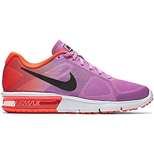 Nike Damen Wmns Air Max Sequent Laufschuhe Fuchsia Glow / Oranje / Paars / Zwart