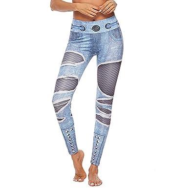 letzter Rabatt beste Schuhe außergewöhnliche Auswahl an Stilen Routinfly 2019 Neue Damen Hohe Taille Jeans Gedruckt Yoga ...