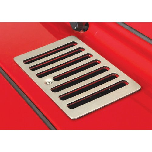 Rugged Ridge 11185.69 Satin Stainless Steel Cowl Vent Cover