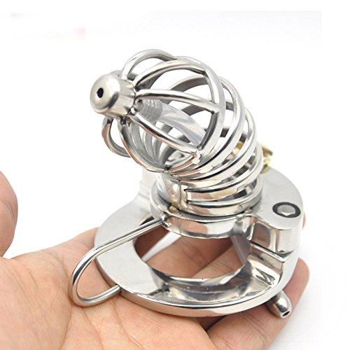 GTAovov Newest metal chastity urethral cock cage 316L stainless steel male chastity device cockring penis cage bondage lock men sex toys by GTAovov