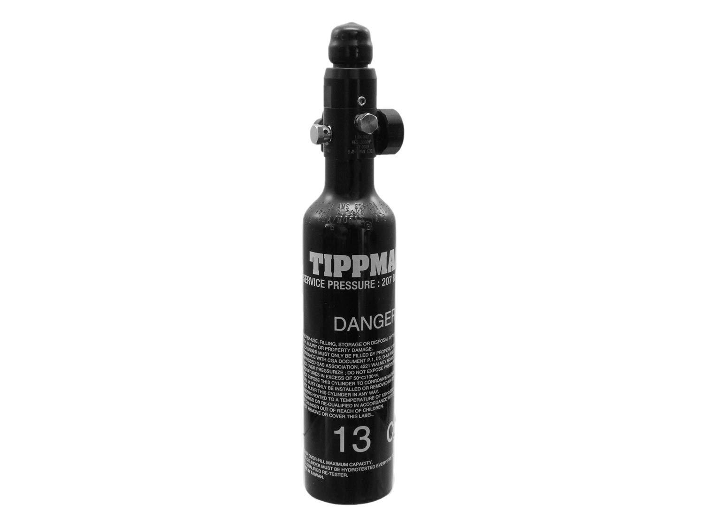 Tippmann 0, 2L (13ci) Metall HP Tank/Flasche mit Regulator (klein) [Fülldruck: 3000psi]
