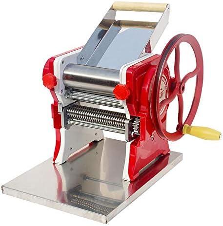 パスタマシン マニュアル麺メーカー調節可能な厚さの設定についてはパーフェクトスパゲッティフェットゥチーネラザニアまたは、餃子の皮多機能パスタマシンカッター麺メーカー 家庭用 (Color : Red, Size : 26X26X17CM)