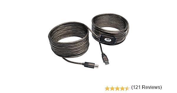 Tripp Lite Cable Repetidor Activo USB 2.0 de Alta Velocidad A/B (M/M), 10.97 m [36 pies] - Cable USB (10.97 m [36 pies], 10,97 m, USB A, USB B, 2.0, Macho/Macho, Negro): Amazon.es: Informática