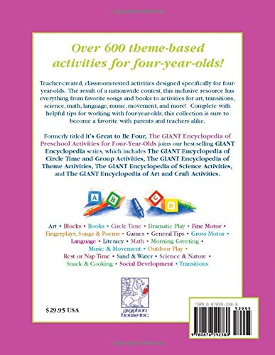The GIANT Encyclopedia of Preschool Activities for Four-Year-Olds ...