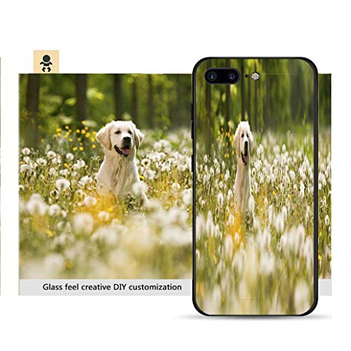 iPhone 7p / 8p Ultra-Thin Phone case Portrait of Golden Retriever Frolicking in Field of Flowers_ Resistance to Falling, Non-Slip, Soft, Convenient Protective case