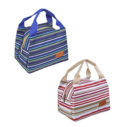 macksi-insulated-lunch-bags-2pcs-stripe-canvas-fashion-lunch-tote-bag-with-zipper-dual-handles-coole
