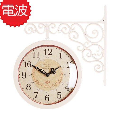 両面電波時計 両面時計 Classic Double Clock CA(IV) おしゃれな 低騷音 インテリア 両面壁掛け時計 電波両面時計 B074RKMDHG