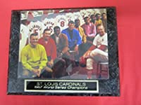 1967 St Louis Cardinals Collector Plaque w/8x10 RARE LOCKER ROOM Photo