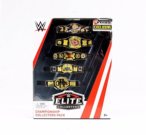 Championship Collectors Five Belt Pack - WWE Elite Ringside Exclusive Mattel Toy Wrestling Action Figure Accessories Pack - Exclusive Wwe Toy