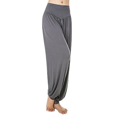 Aivtalk-Sarouels - Pantalón de yoga holgado casual para mujer, bombachos con elástico extensible ideal para hacer deporte o pilates, disponible en 14 ...