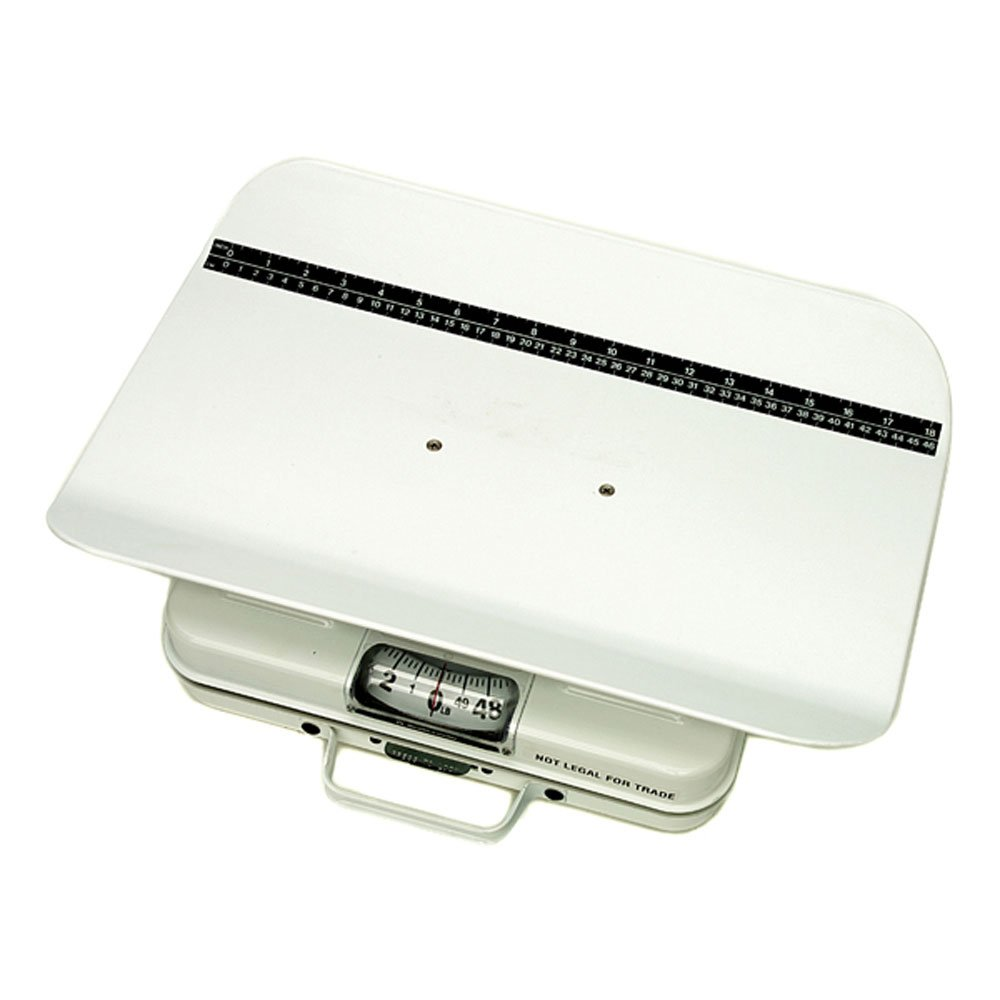 Health O Meter 386S-01 Mechanical Scale, Pediatric, Capacity 50lb, 1/4 lb. Graduation, 19-3/8'' Width x 12-3/8'' Depth x 3-3/4'' Height Seat