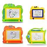 Toys : Catnew Children Kids Early Intellection Toys Magnetic Drawing Board Sketch Pad Doodle Writing Craft Art- Random Color Style