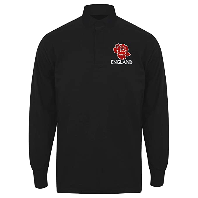 88af0d0b Printmeashirt Mens Vintage Embroidered England Rose Rugby Shirt Personalised:  Amazon.co.uk: Clothing