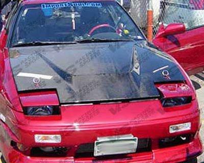 VIS 89-94 Nissan 240SX Carbon Fiber Hood INVADER S13 - Hood s13 Fiber Carbon