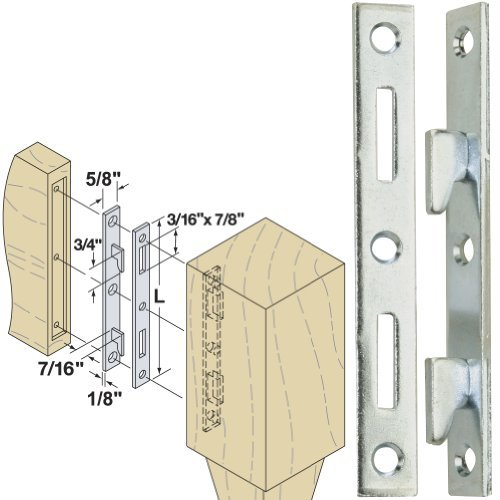 "Woodtek 160550, Hardware, Furniture, Bed Hardware, 5"" Bed Rail Fasteners Clear Zinc, 4-pack"