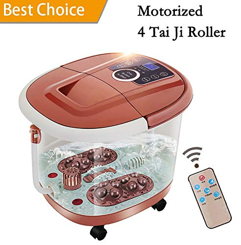 All in One Foot Spa Massage With Motorized Rolling Massage & 4 Pro-set Program - Water Spray, Heating, Rolling Massage, Temperature Setting
