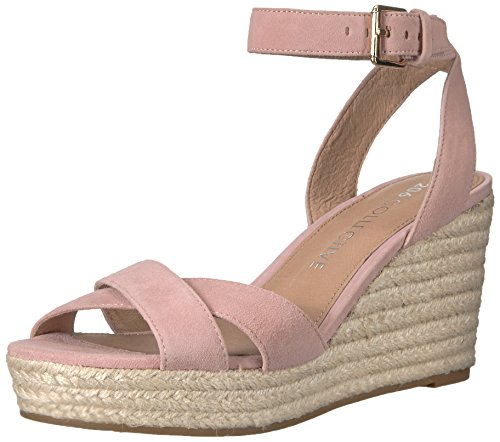 206 Collective Women's Campbell Espadrille Dress Wedge-High Sandal, rose suede, 10 B US