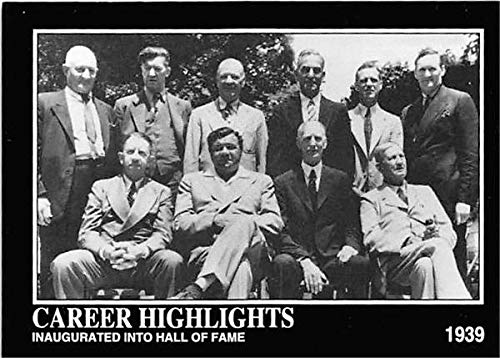 First Baseball Hall of Fame Class 1939 trading card 1993 BRSN #94 Babe Ruth Ty Cobb Walter Johnson Honus Wagner Christy Mathewson