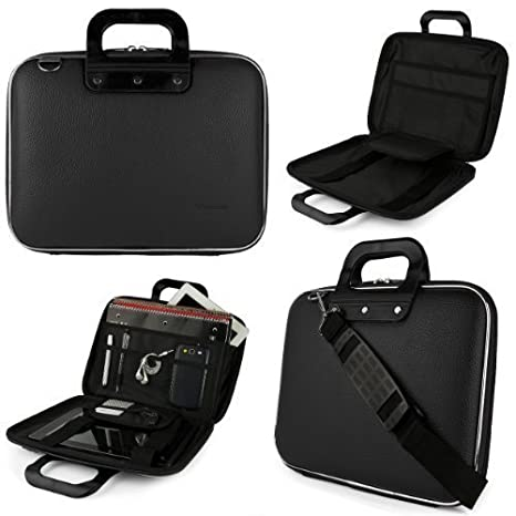 668a517ee906 Jet Black SumacLife Cady Messenger Bag for Dell XPS, Inspiron, Latitude,  Alienware 13.3 to 14