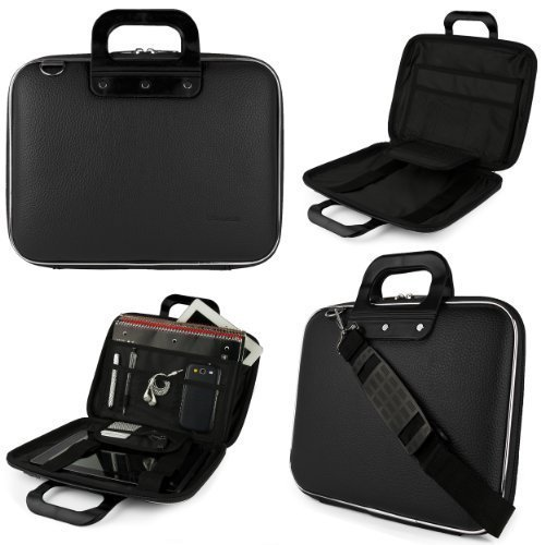 Jet Black SumacLife Cady Messenger Bag for Dell XPS, Inspiron, Latitude, Alienware 13.3 to 14