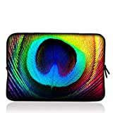9.7'' 10'' 10.1'' 10.2'' inch Laptop Netbook Tablet Case Sleeve Carrying bag For iPad 2 3/Asus EeePC 10 transformer/Acer Aspire one/Dell inspiron mini/Samsung N145/Toshiba/Kindle DX/Lenovo S205/HP Touchpad Mini 210 - Peacock Feathers B10-62585