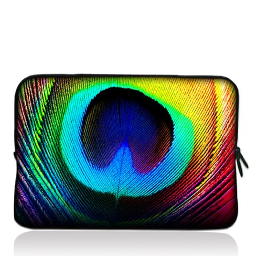 """Peacock Feathers 15"""" 15.4"""" 15.6"""" inch Notebook Laptop Case Sleeve Carrying bag for Apple MacBook, Dell inspiron, vostro, thinkpad series"""