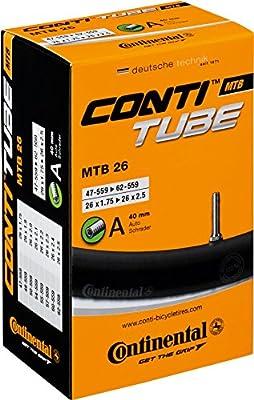 Continental Tube - Cámara de ciclismo MTB 26 a40 (0181611): Amazon ...