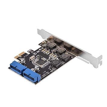 Tosuny Tarjeta Express PCI-E USB 3.0 de 2 Puertos, Tarjeta ...