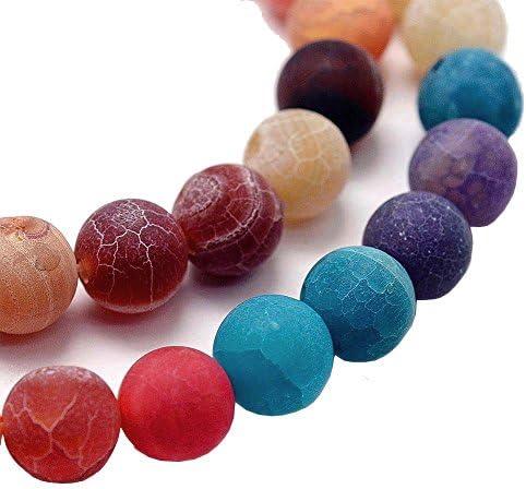 Perlas Piedra Natural Natural Ágata Mate 10mm de piedras preciosas Mix Colores Redondo Joyas Perlas füt Cadena Pulsera Ring r174