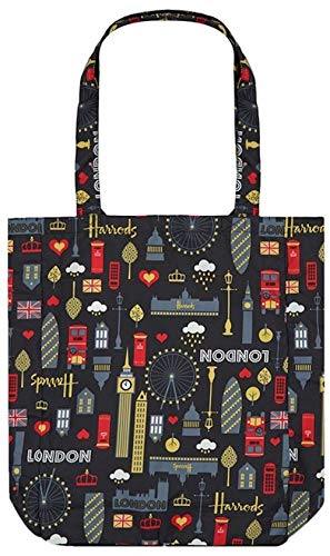 4844746360 Harrods London - Glitter London Pocket Shopper Bag - USA Stock